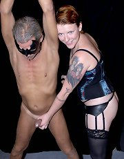 Mistress Nicole strap-on and CBT