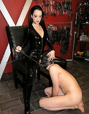 Latex Tongue Slave