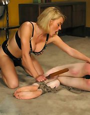 Krissy drags her piece of meat in for some training of the sexual kind. Hard paddling, face sitting and smothering, sodomy and bondage sex all play a part in the shaping of kade as a submissive sex slave